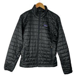 Patagonia Mens Black Full Zip Long Sleeves Nano Puffer Jacket Size Small